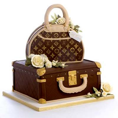 Suit Case LV Cake