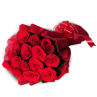 15 Red Roses Bouquet 15 Red Roses