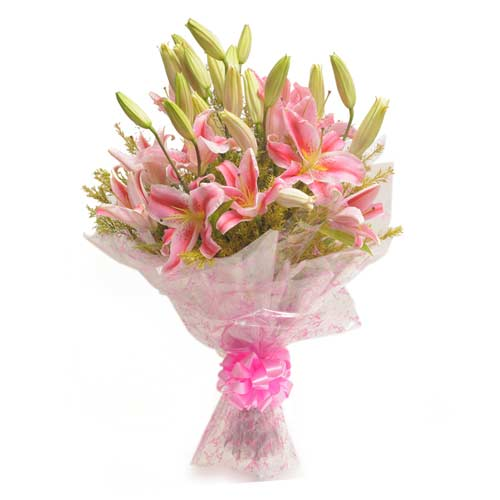 Exotic Pink 6 Pink Lillies