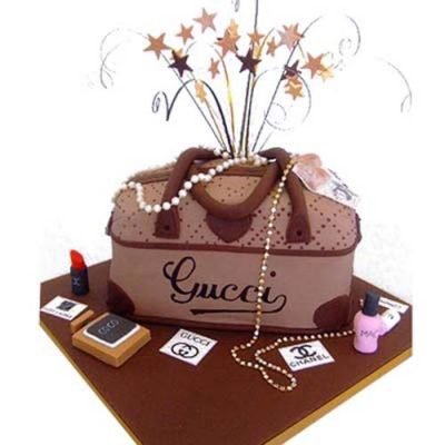 Rich Gucci Handbag Cake