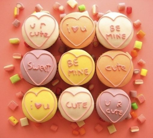 Love Messages Cupcakes