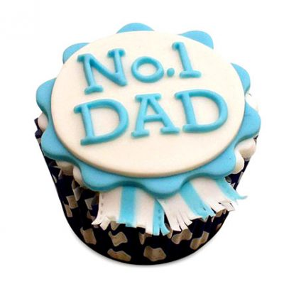No.1 Dad Designer Cupcakes