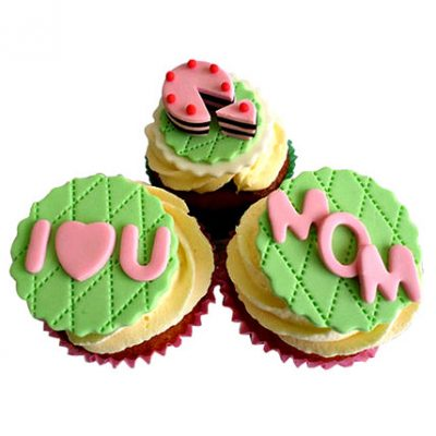 I Love You Mom Cupcakes