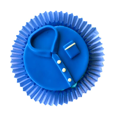 Customized Blue t shirt Cupcakes