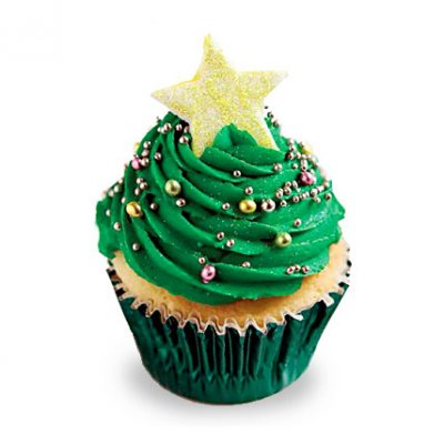 Decorative Christmas Tree Cupcakes