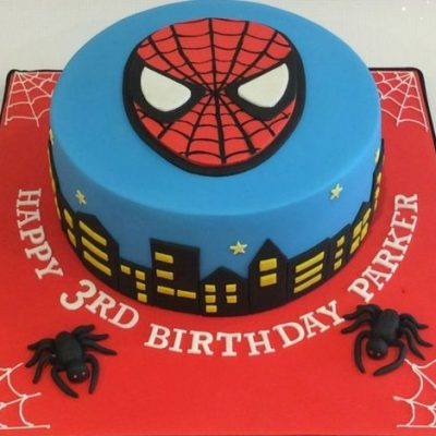 spiderman cake wish a cupcake