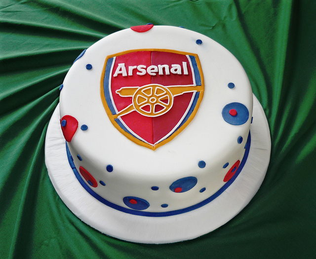Order Arsenal Cake Online Buy and Send Arsenal Cake from Wish A Cupcake