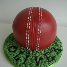 Cricket Ball Cake