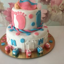 Twin Baby Cake